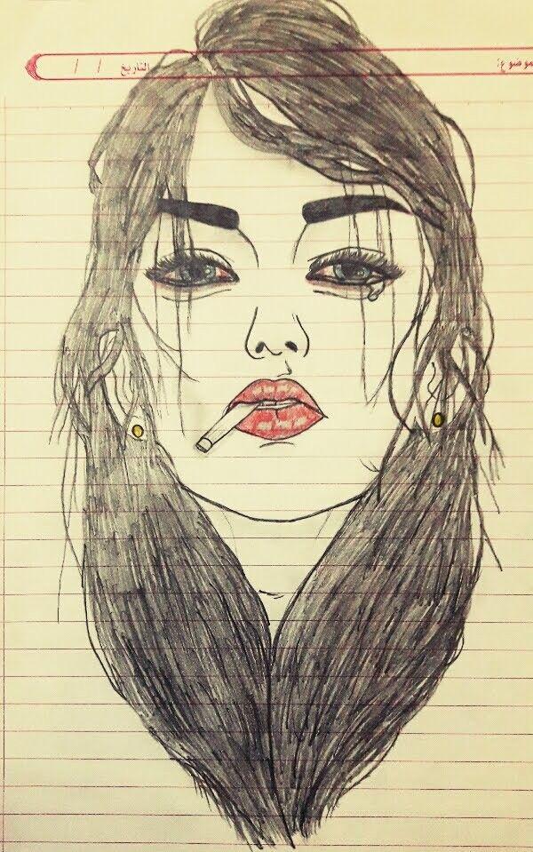رسم فتاة حزينه بقلم الرصاص Drawings Art My Arts