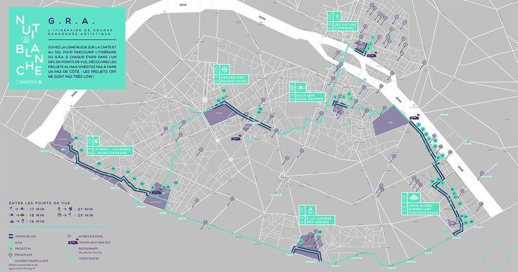 Nuit Blanche map.  Que faire à Paris ?