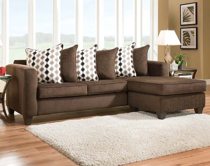 The Radar Mahogany Two Piece Sectional Sofa Is A Streamlined, Chocolate  Brown Sofa That Is Casual, Yet Features Contemporary Accents. Part 87