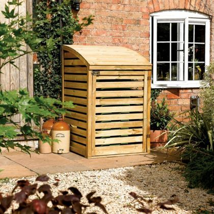 find rowlinson single wheelie bin store x at homebase visit your local store for the widest range of garden products - Garden Sheds Homebase
