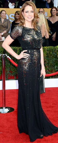 Jenna Fischer This dress makes me think of #sparklers #2013SAGAwards