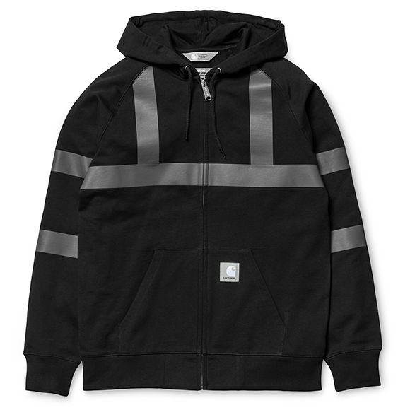 Slam Jam x Carhartt WIP Reflective Hooded Chase Jacket - Black