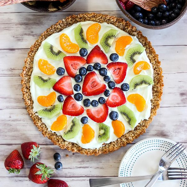 Healthy Greek Yogurt Fruit Tart This post is sponsored by Dannon ...