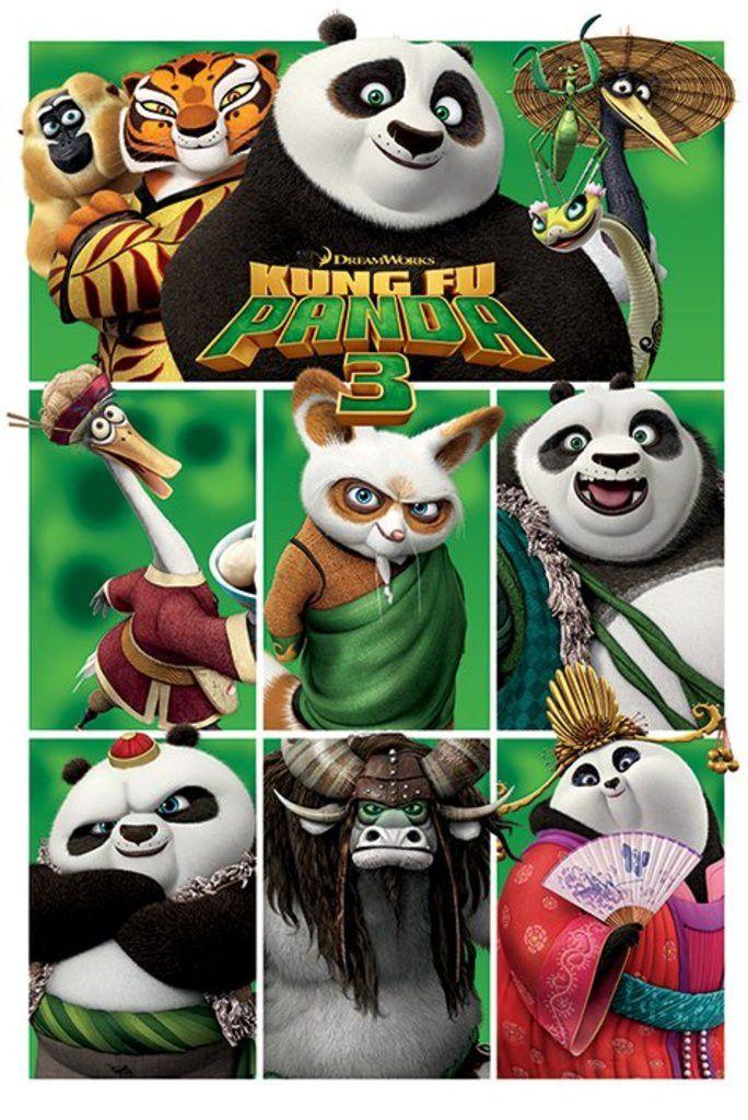 Kung Fu Panda 3 Characters Official Poster Kung Fu Panda Tiras Comica Kung Fu
