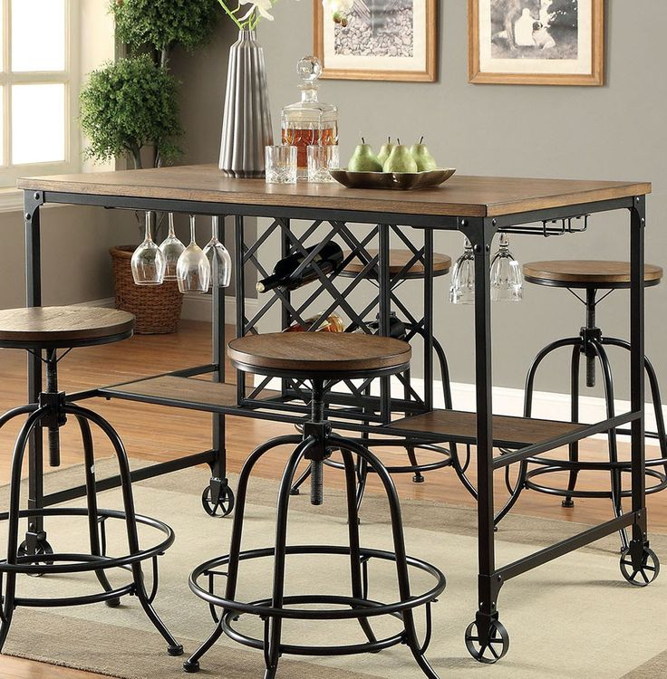 OCFurniture - Furniture of America CM3803PT Industrial Pub Table Set, $495.00 (http://www.ocfurniture.com/furniture-of-america-cm3803pt-industrial-pub-table-set/)