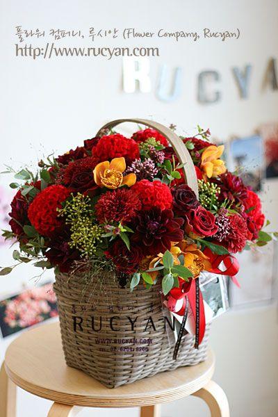 생신축하 꽃바구니, 플라워바스켓_플라워 컴퍼니,루시안(RUCYAN) :: 네이버 블로그