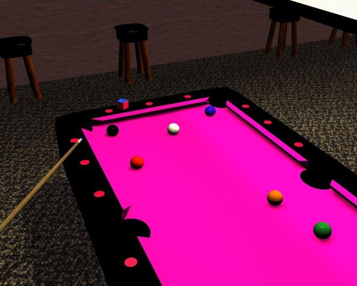 Pink pool table~sweet!