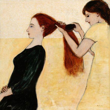 "kersh-art   Brian Kershisnik, ""Sisters"""