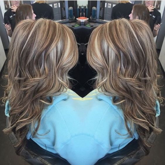 Trendy Hair Highlights : Highlights lowlights. Brown. Blonde. Dimensional Hair By @hair_by_megann coffees