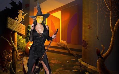 Рамка для фото - Хэллоуин, три ведьмы