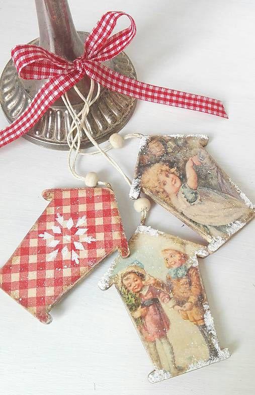 tinuszDecorArt / Vintage vianočné domčeky