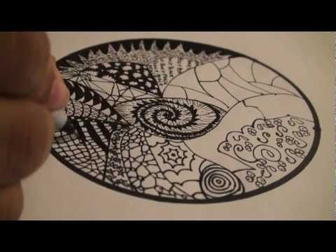 This video features a Mandala with Zentangles! Enjoy :D!    What is Zentangle?  Zentangle is an easy to learn method of creating beautiful images from repetitive patterns. It is a fascinating new art form that is fun and relaxing. It increases focus and creativity.