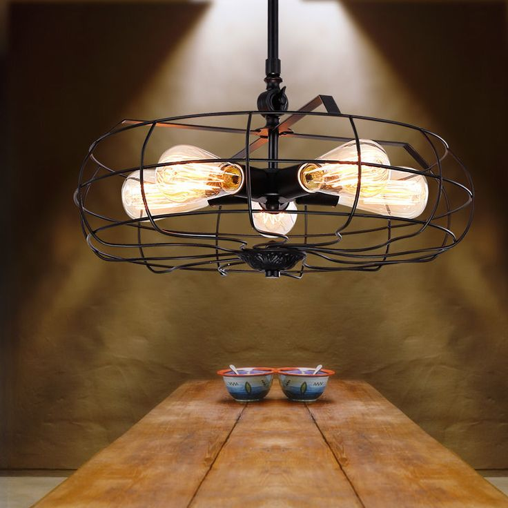 Vintage Style Industrial Electric Fan Lamp Light Pendants Bar Steampunk Lamps #Unbranded