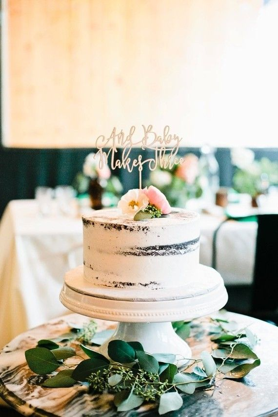 Beautiful semi-naked chocolate cake. With the perfect touch of eucalyptus along the base of the cake stand! Cake Topper by Midnight Confetti