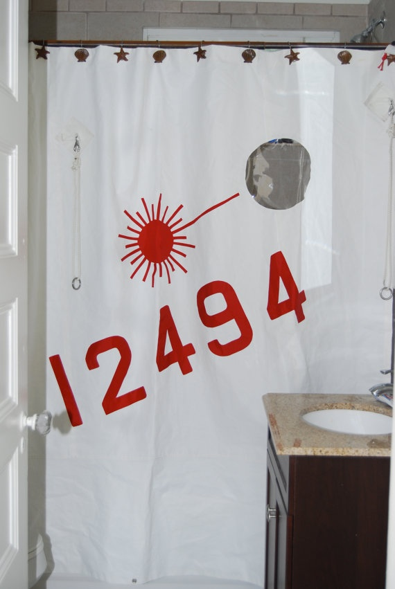 It Has Portholes Shower Curtain Made Of Sail