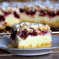 Ciasto smietankowe z wiśniami