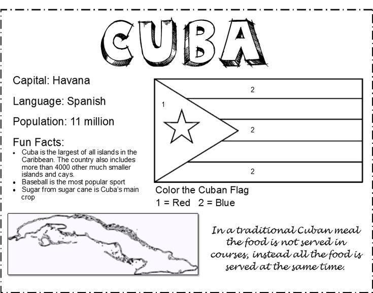 cuba facts for kids printable | Global Dining Challenge for Kids: Destination Cuba