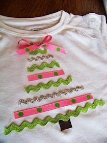 Ribbon trees for Christmas (shirts) cute idea