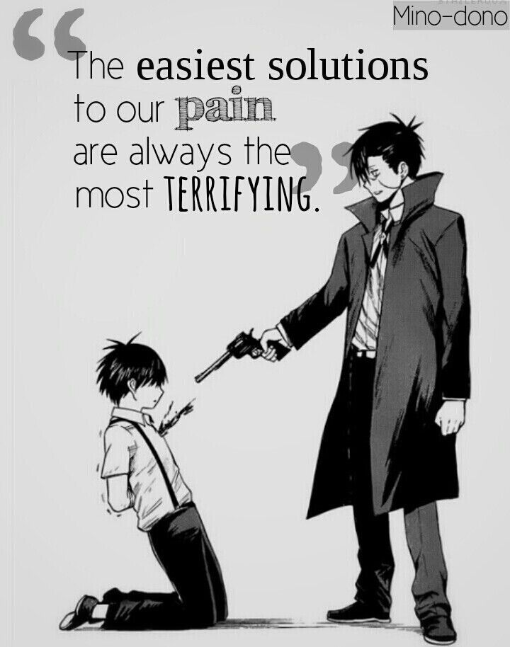 Blood Lad anime quote that I love (///▽///)