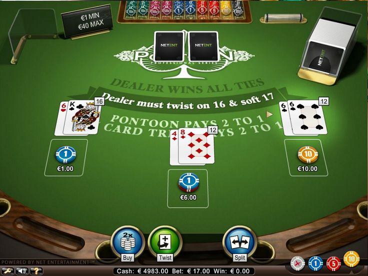 Pontoon-onlinespillemaskine, en variation af det klassiske spil Blackjack, som vi kender, og det har mange lignende regler. Denne nye version er leveret af udviklerne hos Net Entertainment. Den største forskel er, at i stedet for at samle en Blackjack, får du en ponton. #Pontoon #Blackjack #gratis