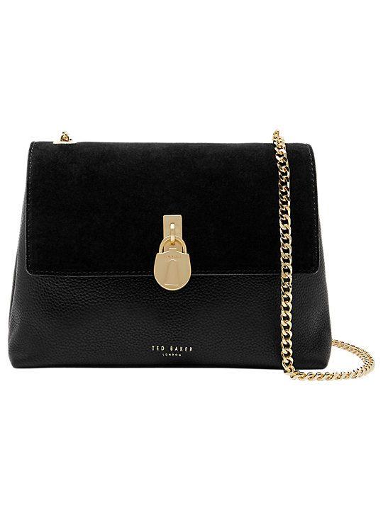 7f0e21166af4 Ted Baker Helena Padlock Detail Leather Cross Body Bag