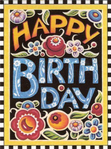Happy Birthday Fried Egg Flowers Fridge File Cabinet Magnet Mary Engelbreit Art   eBay