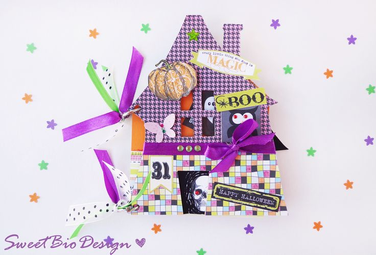 Sweet Bio design: Tuto: Mini album Casa stregata di Halloween - Haun...