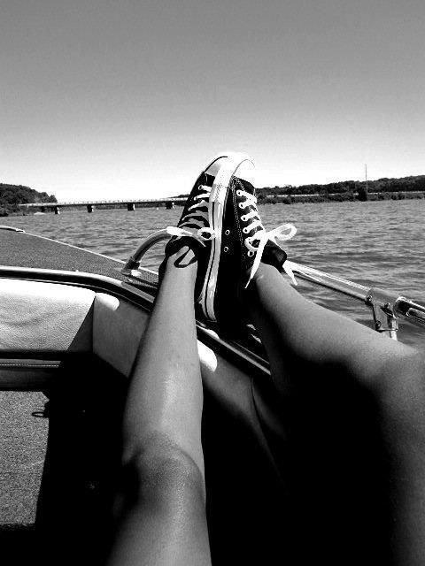 I just like this pic, i love being on a boat just chillin... and i like the shoes