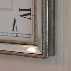 Väggklocka spegel Lyx 36 cm