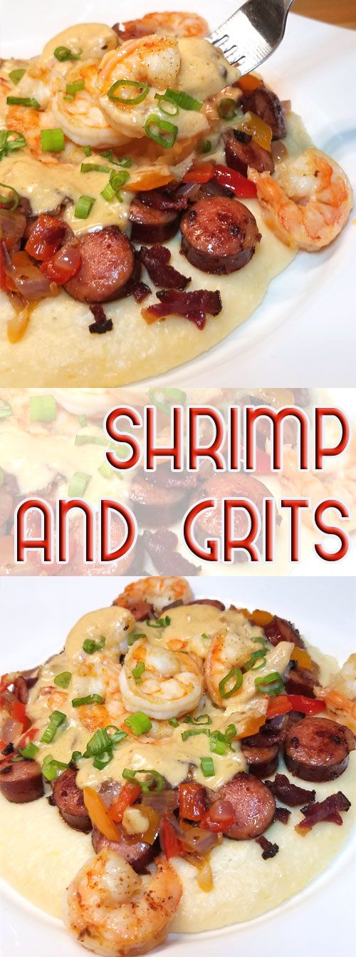 Yummmmalicious! Absolutely rich and delicious, this Shrimp and Grits recipe is right up there with many of the great restaurants in the Lowcountry! #shrimpandgrits #comfortfood #shellfish #southerncooking via @sparklesofyum