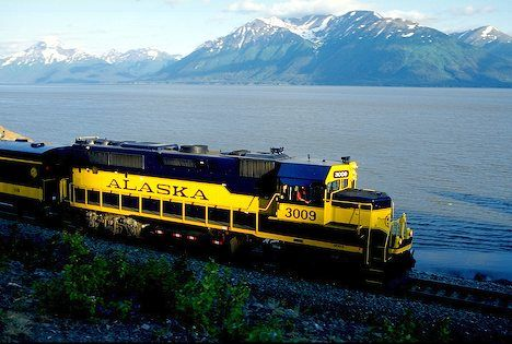 Alaska Railroad Line ~ Photo by...?