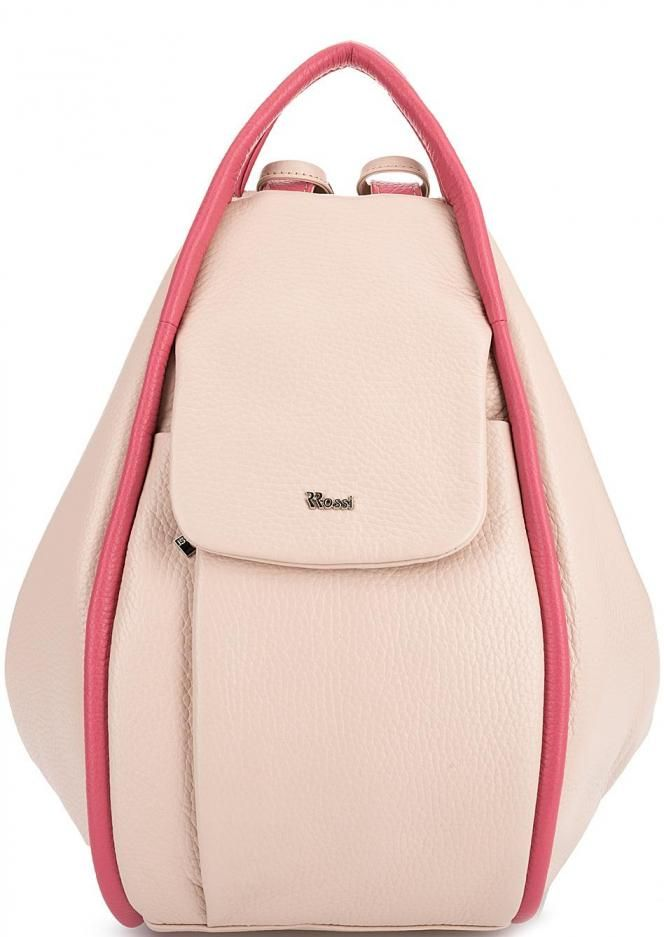 Вместительная сумка-рюкзак с тремя отделами MLX14 cipria/fuxia застегивается на молнии, лямки трансформируются в ручки, купить в интернет-магазине. Цена: 8043