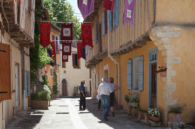 """Sarrant, one of five listed """"Plus Beaux Villages"""" in the Gers, during its festival of ancient music and dance"""