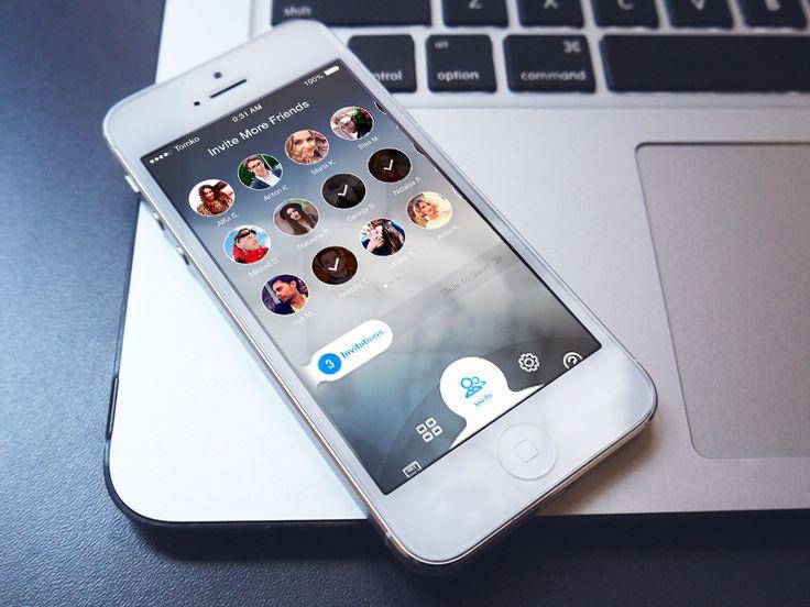 Concept Invite Screen for iOS App / Igor Tomko