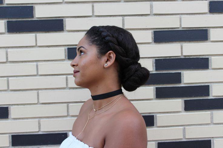 Protective style for relaxed hair. Penteado protetor para cabelo crespo. Estilo protector. Bun. Flat Twist