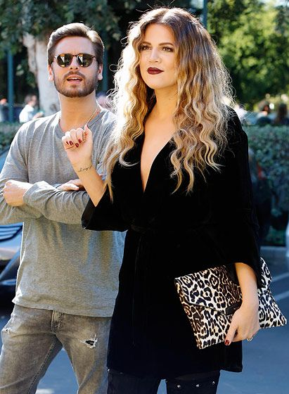 Khloe Kardashian and Scott Disick were spotted filming Keeping Up With the Kardashians together.