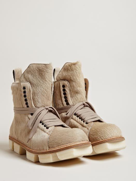 Rick Owens Men's Low Cow Hide Boots