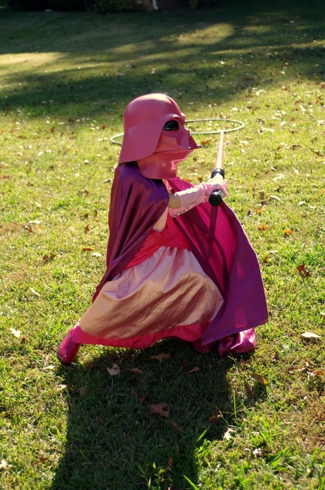 Redditor and proud geek parent Jon Swope posted photos on reddit of his daughter wearing a Princess Darth Vader Halloween costume. Jon posted more photos on his Google+ account. Today, I am proud to be a woman *and* a science fiction geek. (I like pink, too. You got a problem with that?)