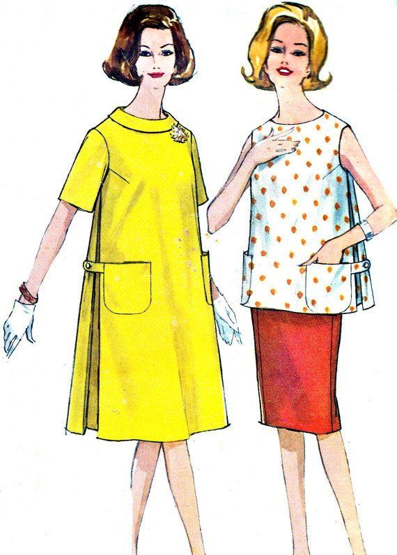 1960s Dress Pattern Simplicity 4827 Mod Maternity by paneenjerez, $10.00