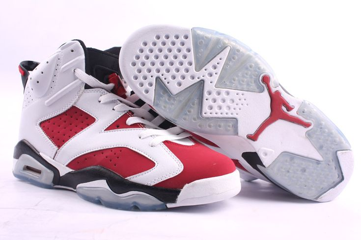 red and white air jordan retro 6