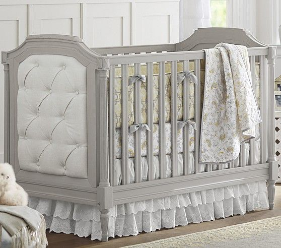 Blythe Crib Vintage Inspired Crib With Pin Tucked
