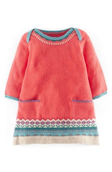 Mini+Boden+Fair+Isle+Knit+Sweater+Dress+(Baby+Girls)+available+at+#Nordstrom