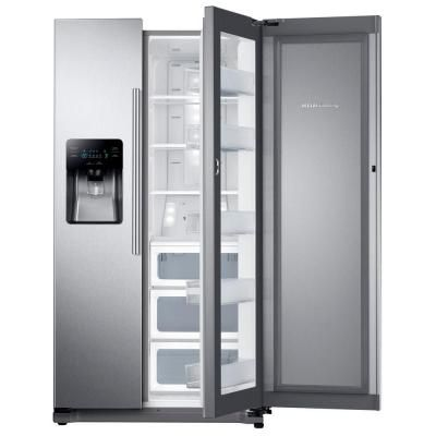 samsung 247 cu ft side by side in stainless steel silver with food showcase design