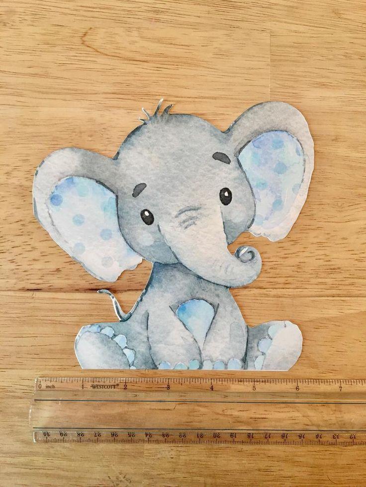 Elephant baby shower decor centerpieces nursery
