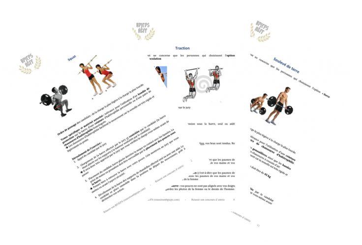 Devenir coach sportif Diplôme BPJEPS AGFF formation coach sportif TEP Tests d'Exigences Préalables  Développé couché Tractions Squat Soulevé de terre