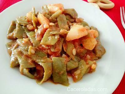 Judías verdes rehogadas con tomate