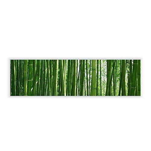 Trend Motivscheibe f r IKEA Wandleuchte Gyllen im Querformat mit Motiv Bambus