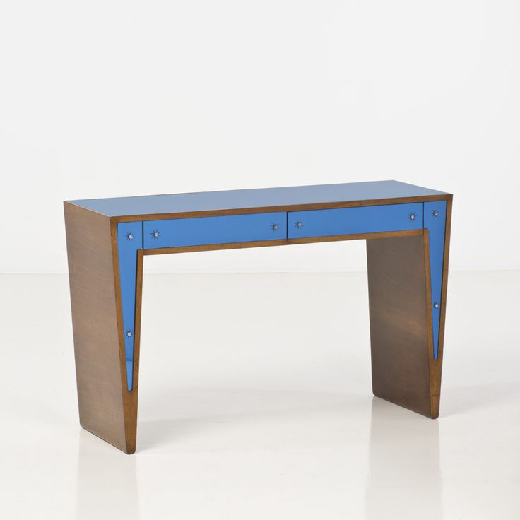 Gio Ponti; Wood and Glass Console for Fontana Arte, c1930.