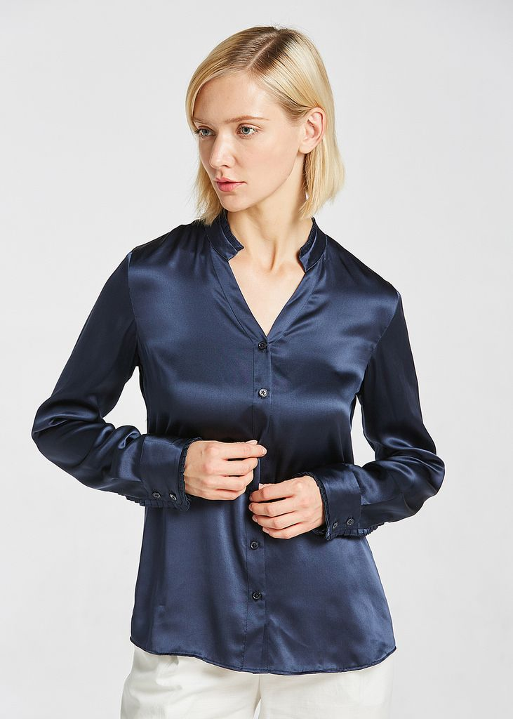 satin blouse erotica