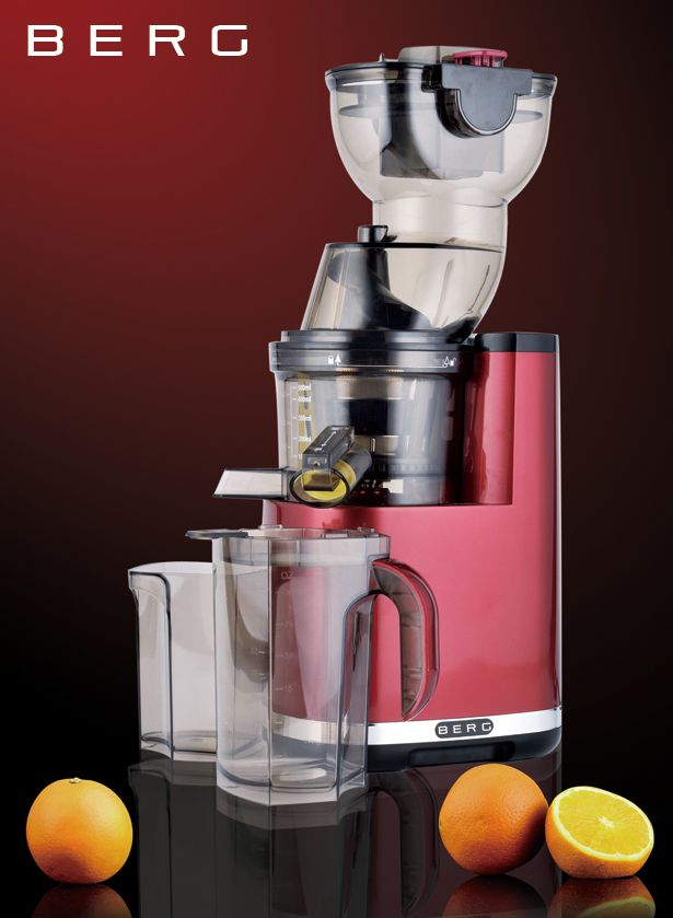 Features: Slow masticating dual stage auger for cold pressing WHOLE fruits and vegetables. Rotating at just 33 RPM makes it one of the slowest rotation juicers currently available, enabling it to produce the most nutrient rich juices with the lowest levels of oxidisation possible. Despite being one of the most powerful juicers on the market, this is BERG's quietest juicer yet. Minimal waste, up to double yield compared to other juicers extracting up to 85% of raw product weight, to ensure…